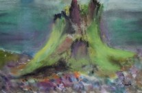 2013-2 Woodland Cycle of Life – Moss Covered Cedar Stump #1