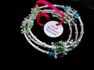 Crystal Memory Wire Bracelet #2